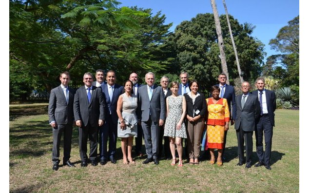 Representatives of the French companies in Tanzania at the Residence of France